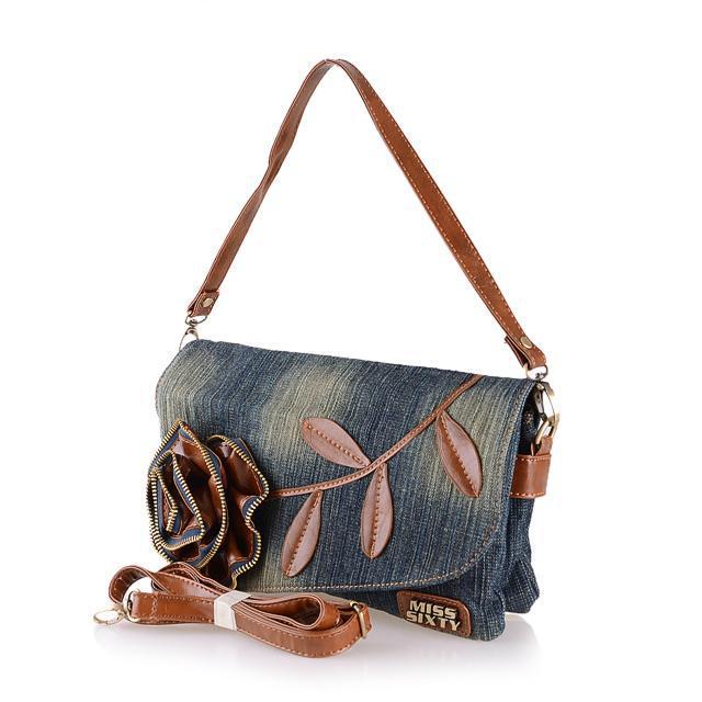New arrival!! Flower Bag Girls 2015 Retro Denim Bag Girls Shoulder Bag Female Jeans Bag ...