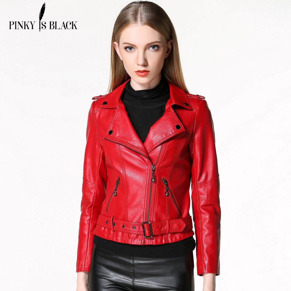 Buy 2016 autumn and winter women clothing for Red leather shirt for womens