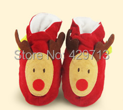 First Walkers Infant soft bottom shoes cute animal leather baby boy girl pure handmade socks non slip leather machine washing()