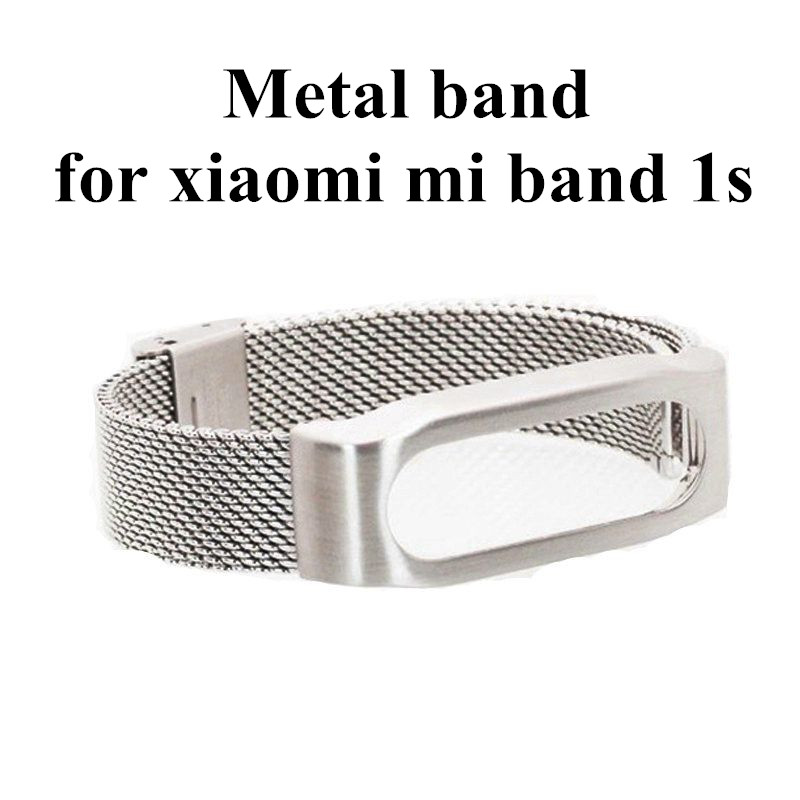 2016 New Metal Mi Band Replace Strap For Xiaomi Mi Band 1s Pulse Miband Smart Bracelet Wrist Strap Wearable Devices In stock <br><br>Aliexpress
