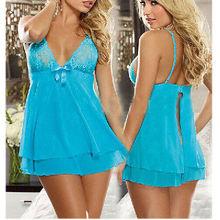 Women's Sexy Lingerie Intimate Lace Dress Nightwear Babydoll Sleepwear G-string