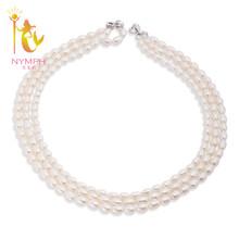 [NYMPH] Жемчужное Ожерелье Ювелирные Изделия Перлы Жемчужное Ожерелье Женщины ожерелья Падения X109(China (Mainland))
