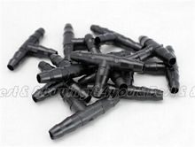 100pcs/Set Plastic Irrigation Ploy Tee Pipe Barb Hose Fitting Joiner Drip System (ST41009002_100)(China (Mainland))