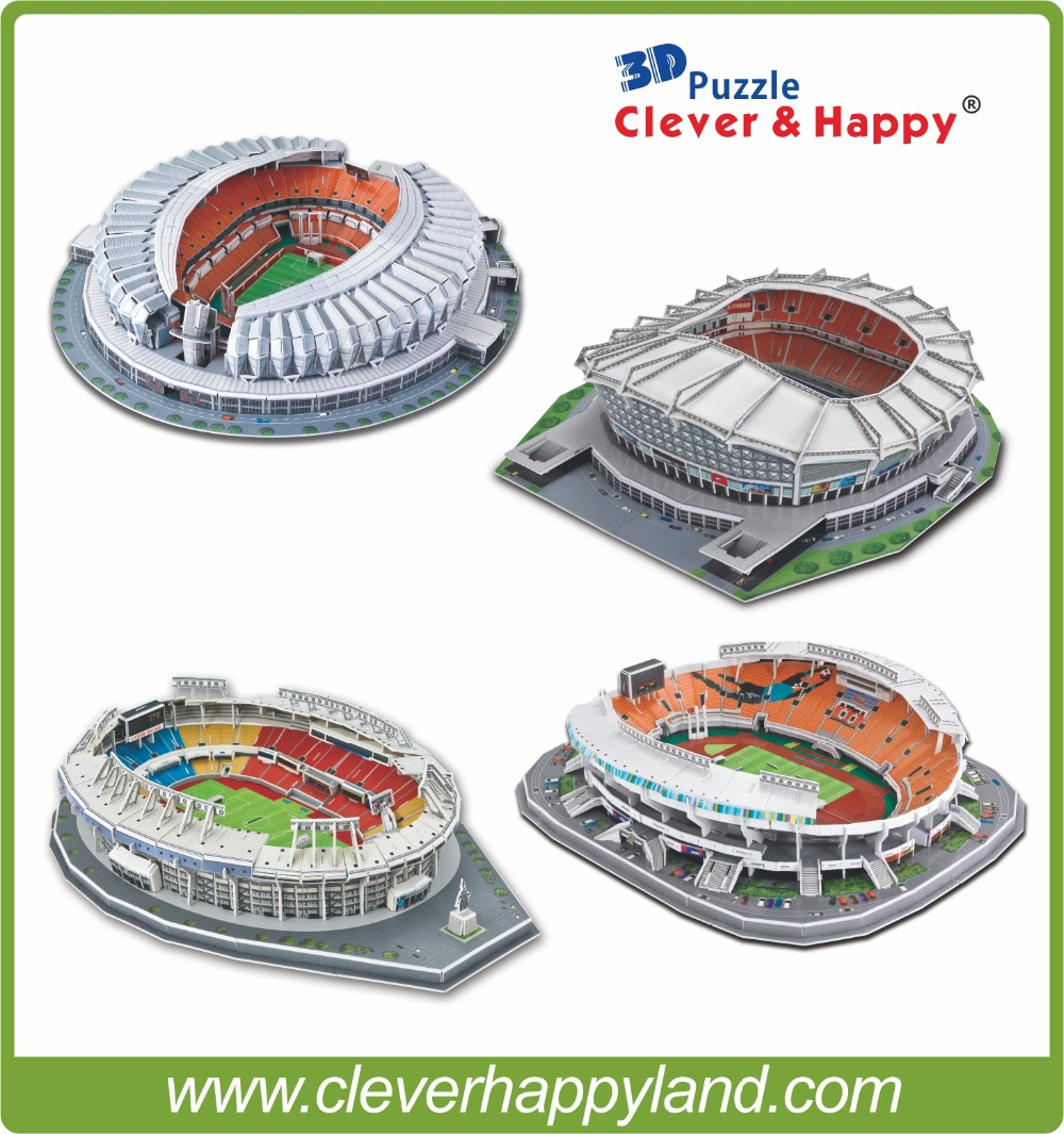 China Football Club world famous 3D Puzzle 3d football stadiums model Souvenir puzzle model(China (Mainland))