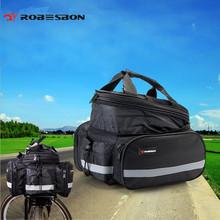 ROBESBON Bicycle Rear Bag Waterproof Saddle Bags Rack MTB Bike Seat Panniers Black Cycling Bicycle Rear Bag + Rain cover(China (Mainland))