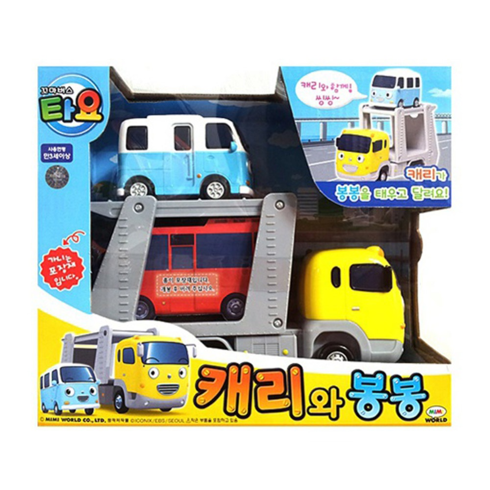 Carry and Bongbong The Little Bus Tayo Korean TV Animation Toy Pull back Car Die-cast Toy Vehicle(China (Mainland))