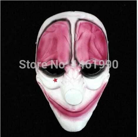 Resin PAYDAY 2 Hoxton MASK joker clown costume Heist Adventure support enforcer(China (Mainland))