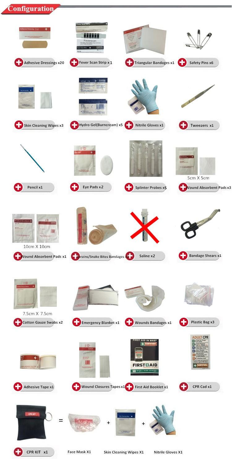 first aid kit list pdf