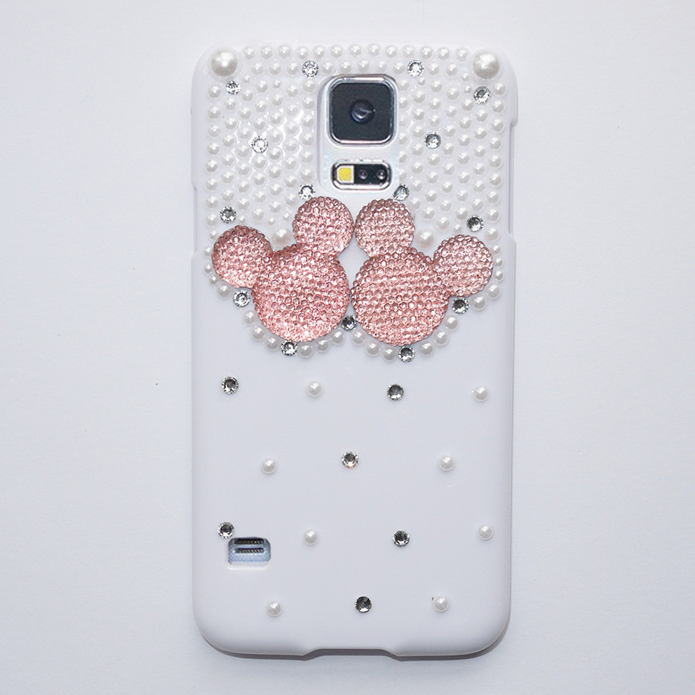 New Fashion Cute 3D Pearl Crystal Rhinestone Case For Samsung Galaxy S5 Case Hard Cover Phone Cases Accessories Protector(China (Mainland))