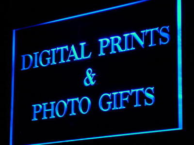 i855-b Digital Prints Photo Gifts Shop LED Neon Light Sign Wholesale Dropshipping On/ Off Switch 7 colors DHL(China (Mainland))