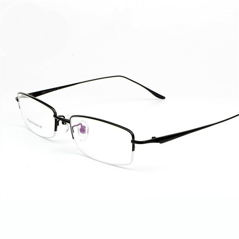 Titanium Half Rim Eyeglass Frames : 2016 100% Pure Titanium half rim frames Men eyeglasses ...