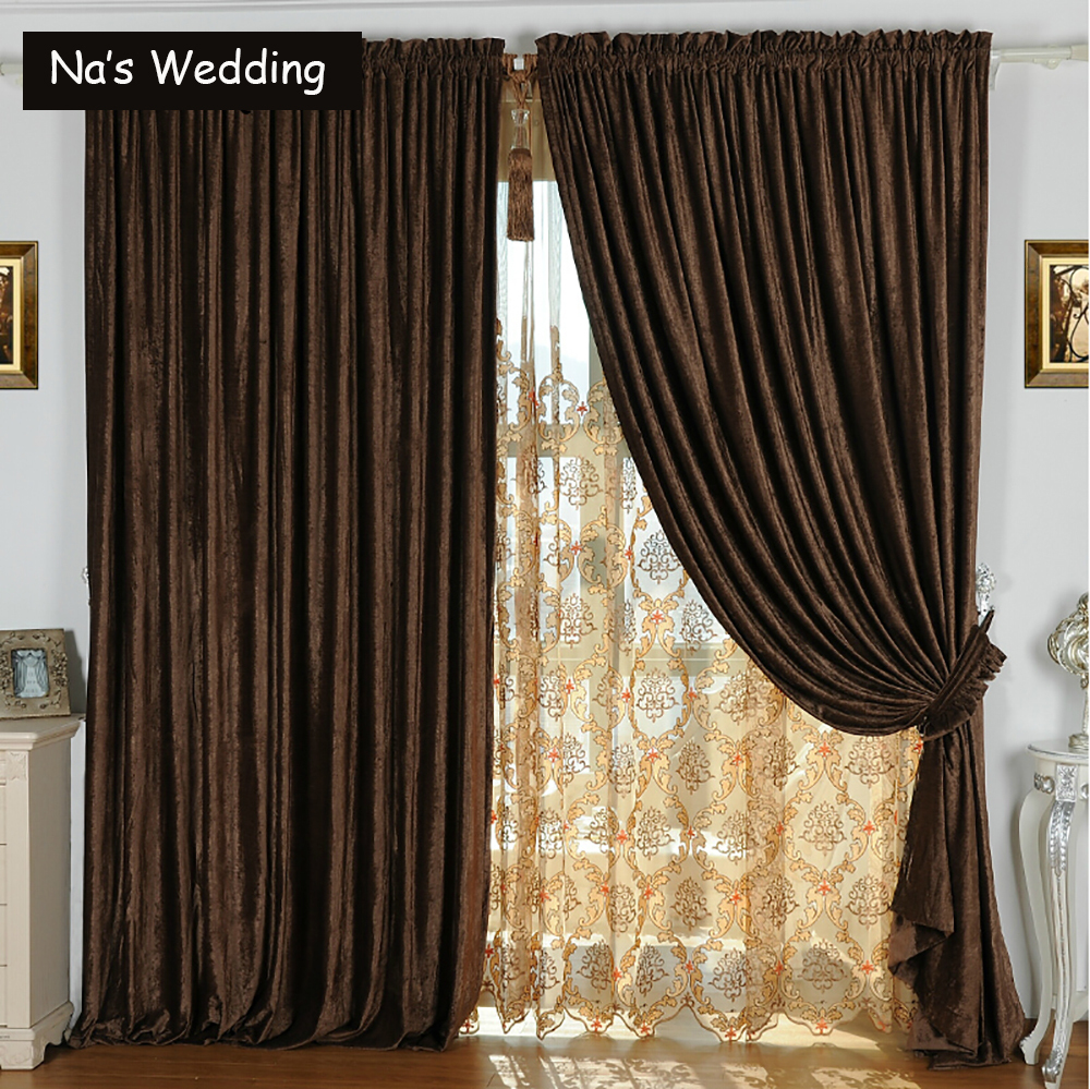 Double Panel Window Curtains : Na s double side chenille suede curtains luxury solid