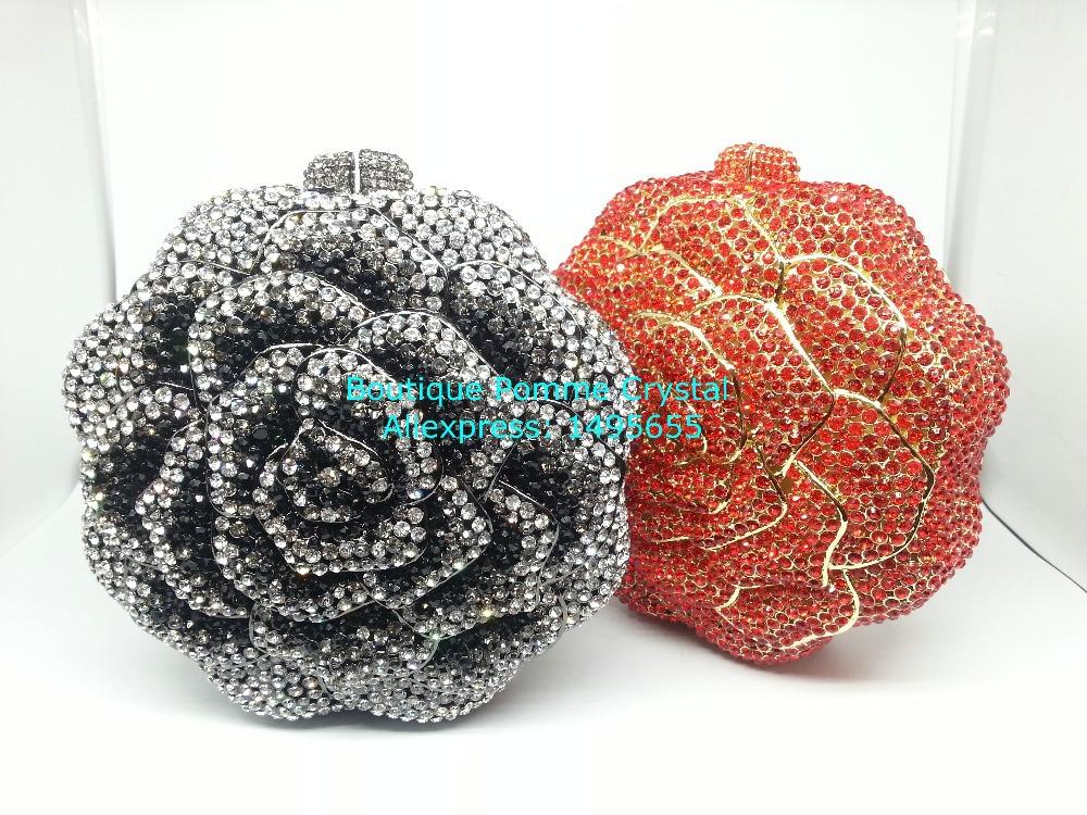 Gift Box Blue Women Rose Clutch Bag Crystal Flowers Lady Clutches Elegant Shinny Rhinestones Evening Diamond Bags Wedding Purses<br><br>Aliexpress