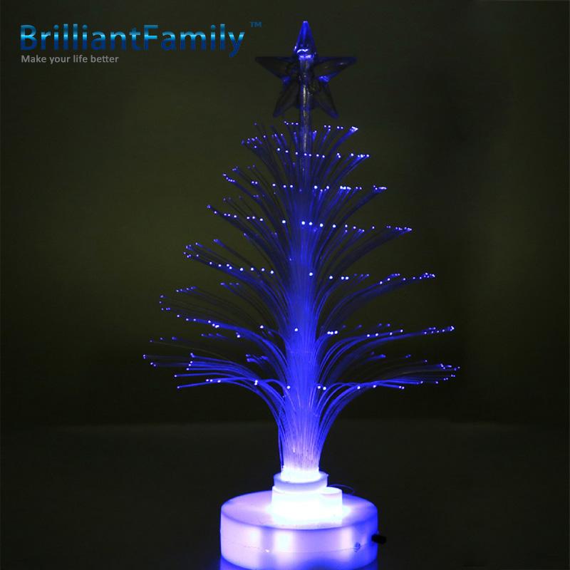 Christmas fiber tree led colorful discoloration fiber optic tree fiber Christmas tree Christmas gifts hot stars trees(China (Mainland))