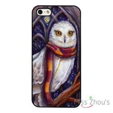 Hedwig Owl Harry Potter Art back skins mobile cellphone cases cover for iphone 4/4s 5/5s 5c SE 6/6s plus ipod touch 4/5/6