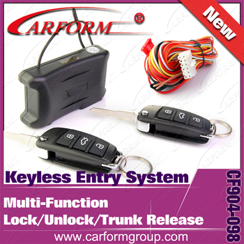 Keyless entry system Car Remote Central Lock with remote Controllers Lock Unlock Trunk open function 3pcs/Lot Free shipping
