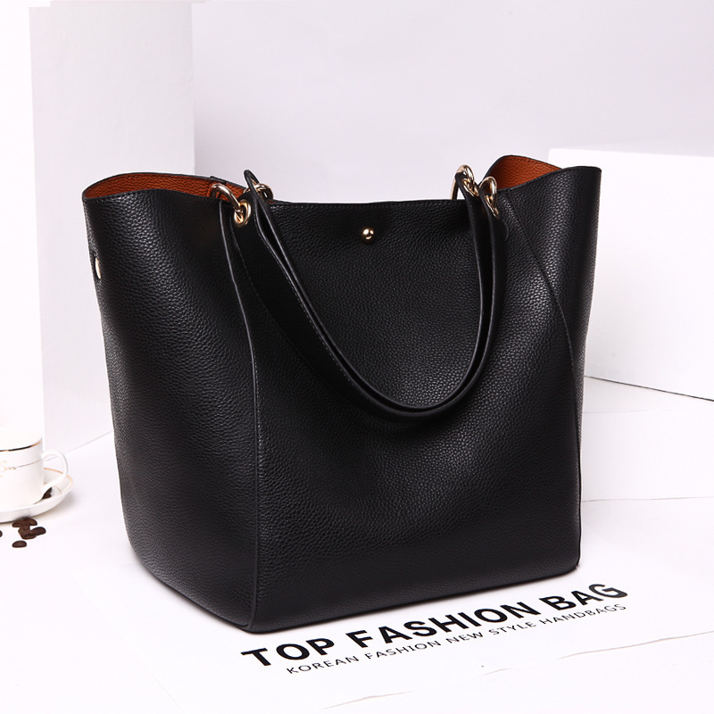 Genuine Leather Handbags 2015 Brand Models Retro Minimalist Shoulder Bag Lady Leather Handbag Designer Leather Women Tote Bag(China (Mainland))