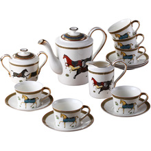coffee tea sets 15pcs each set European ceramic Coffee cup sets suit British wedding birthday Xmas gift 2015 free shipping