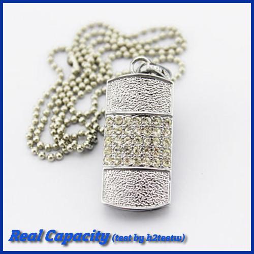 free shipping pen drive diamond usb flash drive jewel pendant pendrive crystal usb 4gb 8fb 16gb 32gb(China (Mainland))