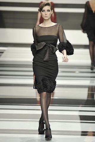 Lebanese fashion designer dress black evening dress vestido de fiesta(China (Mainland))