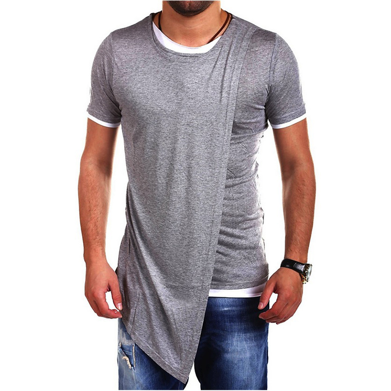 2016 new men cotton shirts street wear patchwork dress Designer clothing for men online sales