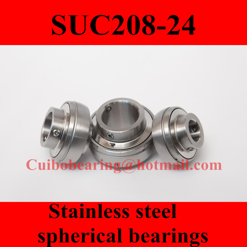 Фотография Freeshipping Stainless steel spherical bearings SUC208-24