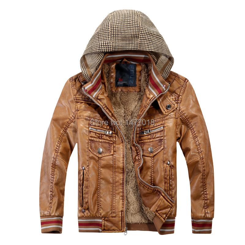 2015 New brand baby boy spring winter hooded warm fur leather jackets patchwork children kids blazer casual jacket outwear Pu(China (Mainland))