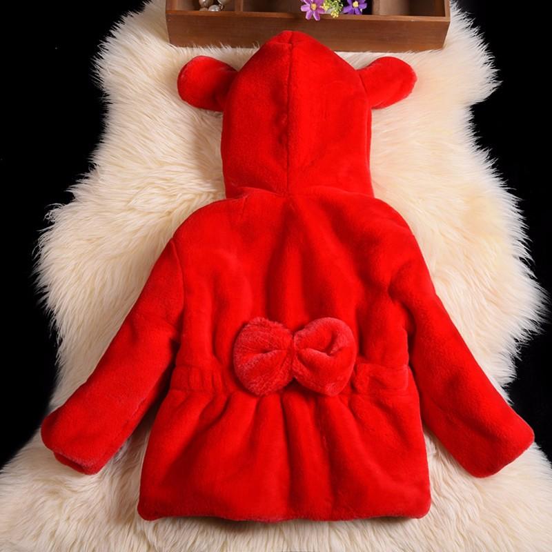 Скидки на 2016 детские искусственного меха пальто девушки зима пушистый пальто имитация меха кролика девушки с капюшоном пальто
