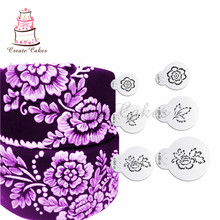 Buy Brush Embroidery Flower Stencil for Cupcake and Cookies Decoration Plastic Cake Stencil Fondant Template Mold Decorating Tools for $5.00 in AliExpress store