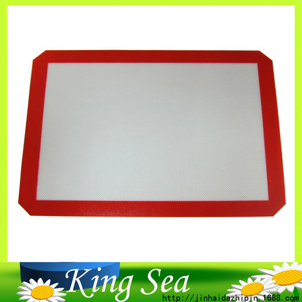 400*300*0.75mm/15.75x11.81 inch Non-Stick Baking Mat Silicone Glass Fiber Rolling Dough Mat SUgarcraft Mat Baking Liner(China (Mainland))