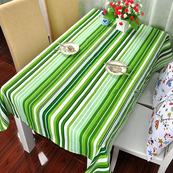 100% cotton thickening canvas table cloth modern brief cloth dining table cloth rustic table cloth customize stripe(China (Mainland))