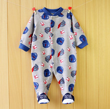 Baby Romper 2015 New Fleece Unisex Baby Clothes Long Sleeve Print Clothing For Newborns Spring Autumn