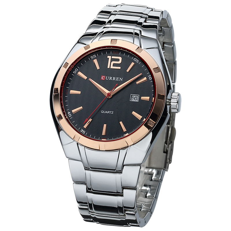 Original CURREN Luxury Brand Stainless Steel Strap Analog Date Men's Quartz Watch Casual Watch Men Wristwatch relogio masculino(China (Mainland))