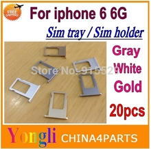 Buy 20pcs High Replacement Sim tray iPhone 6 6G 4.7 inch Sim tray card holder slot Silver Gold Grey Color Free for $33.78 in AliExpress store