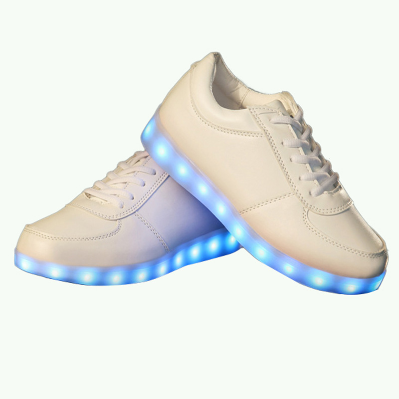SW1267 2016 Hot Fashion Casual Unisex Shining Shoes With LED Laser Leather Surface Gold Silver USB Light Up Shoes For Adults<br><br>Aliexpress