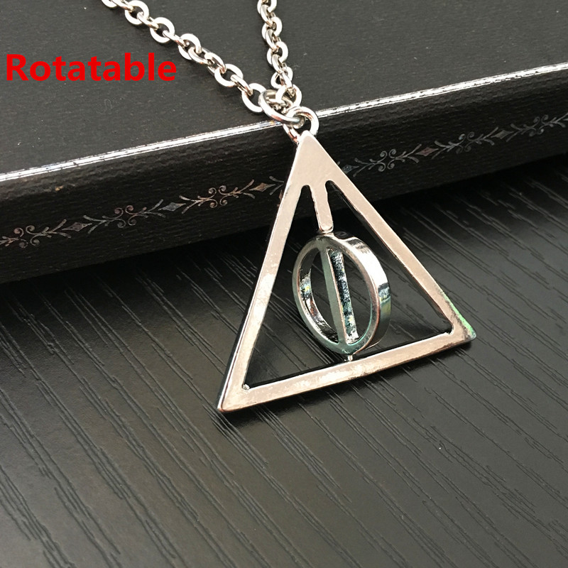 20PCS/LOT Movie Necklace Harry The Deathly Hallows Resurrection Triangle Rotated Circle Pendants&Necklaces For Women&Men(China (Mainland))