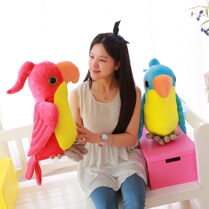 Creative 55cm Stuffed Parrot Toys Stuffed Bird Doll Super Lifelike Big Animal Pillow Toys Baby Doll Girl Gift(China (Mainland))