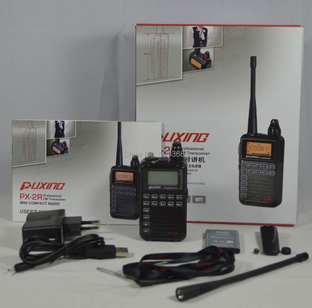 2pcs/lot Puxing PX Puxing PX-2R UHF400-470MHz TX & RX, and VHF136-174MHz RX transceiver with Keypad LCD for security,hotel,ham(China (Mainland))