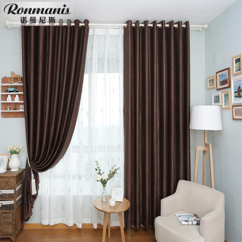 Brown curtains living room bedroom den finished curtains for living