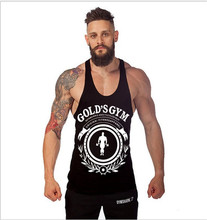 2016 Golds Gym Tank Top Men Singlet Fitness Stringer Bodybuilding Shirts Cotton Clothes Camiseta Regata Masculina Musculation