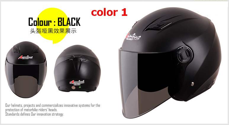 Andes Motorcycle Helmets Fashion Open Face Accessories Parts - Rebecca Bags & Shoes Co., Ltd store