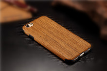 Luxury Wooden popular brands mobile phone cover. Wood + pc phone casing protection shell for iPhone6 6s 6plus