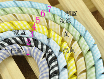 9mm Plaid Curlied ribbon,Easter Holiday gift Curly ribbon,DIY Curly Plaid ribbon10pcs/lot Free shipping