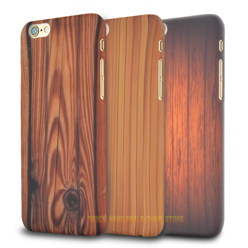 Hot! For Apple iphone 6/6s 6Plus/6sPlus Luxury Ultra-thin Wood Grain Vintage Retro Style Hard PC Mobile Phone Case Back Cover Ba(China (Mainland))