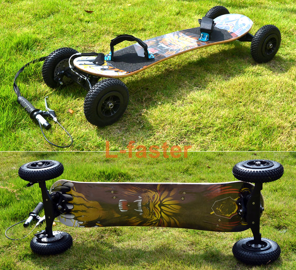 off road skatbeoard with brake handle -1-a