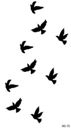 Hc1073 женщин сексуальная пальцев наручные вспышки поддельные татуировки наклейки свобода небольшой птицы дизайн водонепроницаемый временные татуировки наклейки