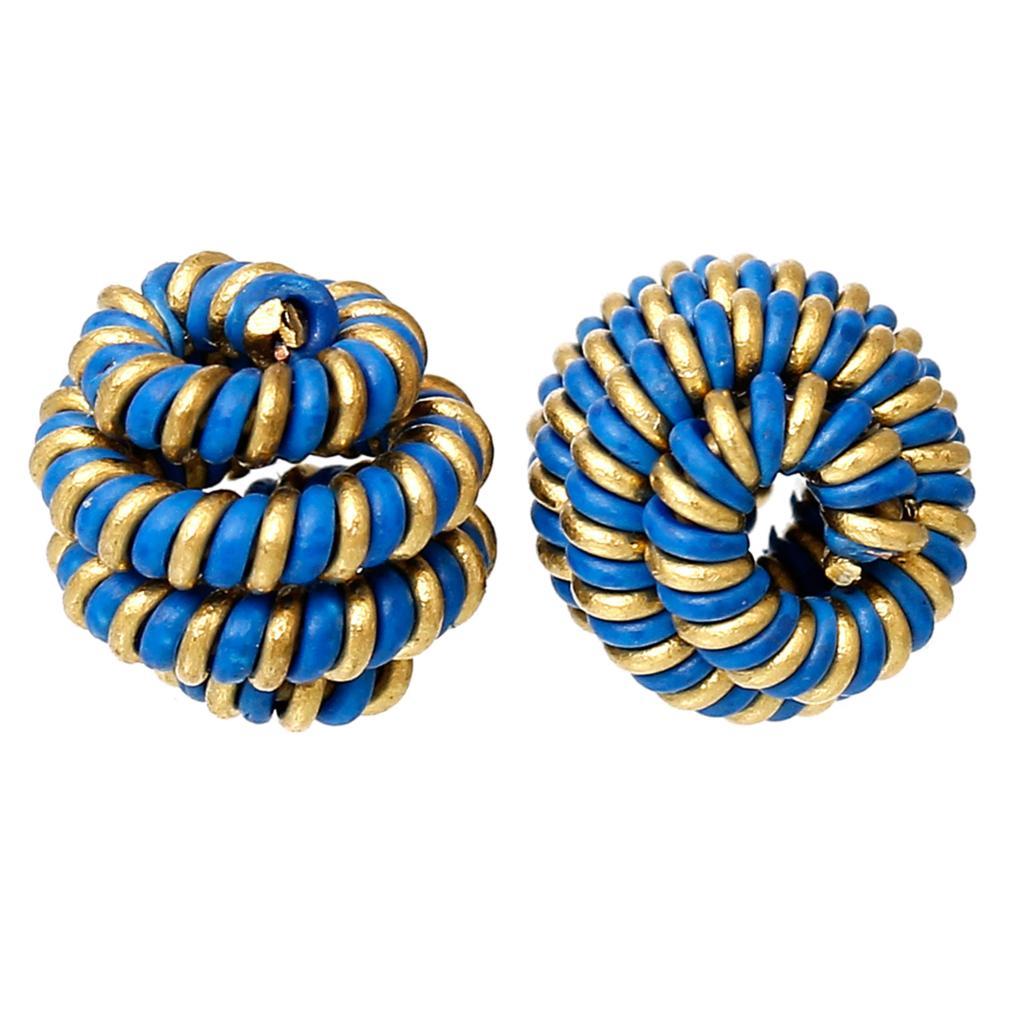 "Brass Spiral Bead Cages Pendants Lantern Brass Tone Blue Blank 9mm(3/8"")x 8mm(3/8""),20 PCs 2015 new(China (Mainland))"