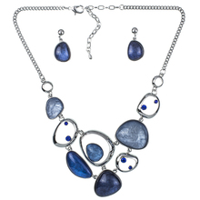 MS1504377 Fashion Jewelry Sets Hight Quality 4 Colors Necklace Sets For Women Jewelry Silver Plate Crystal Unique Design Gifts(China (Mainland))