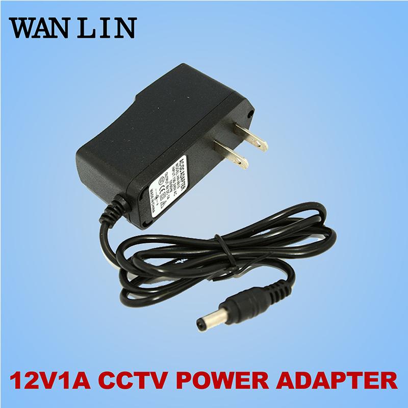 Wanlin UK/US/EU Type Power Adapter DC 12V 1A CCTV Camera Power Supply Standard Plug Power Adapter AHD Camera(China (Mainland))