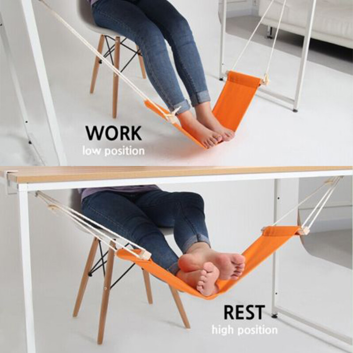Гаджет  Portable Mini Office Foot Rest Stand Desk Feet Hammock Easy to Disassemble Home Study Library Comfortable Indoor None Мебель